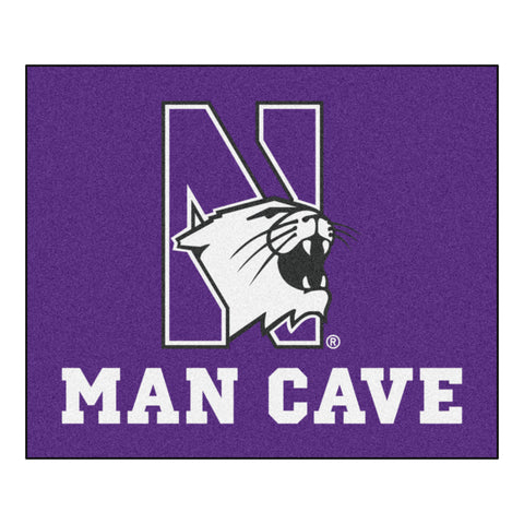Northwestern University Man Cave Tailgater Rug 5x6 - FANMATS - Dropship Direct Wholesale