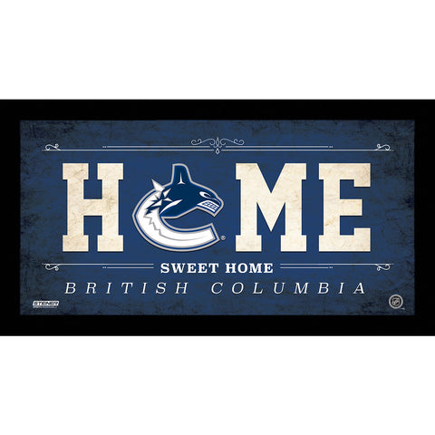 Vancouver Canucks 6x12 Home Sweet Home Sign - Steiner Sports - Dropship Direct Wholesale