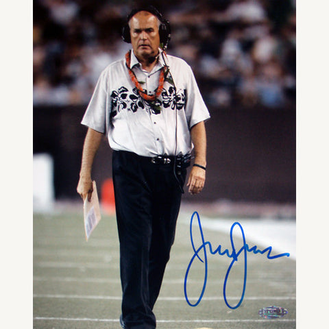 June Jones On the field Vertical 8x10 - Steiner Sports - Dropship Direct Wholesale