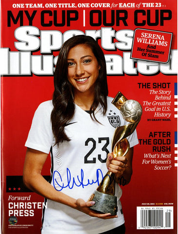 Christen Press Signed Sports Illustrated 2015 World Cup Edition 7/20/2015