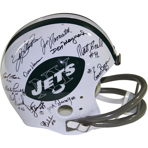 1969 New York Jets Team Signed Full Size Throwback Helmet (JSA Holo Only) - Steiner Sports - Dropship Direct Wholesale