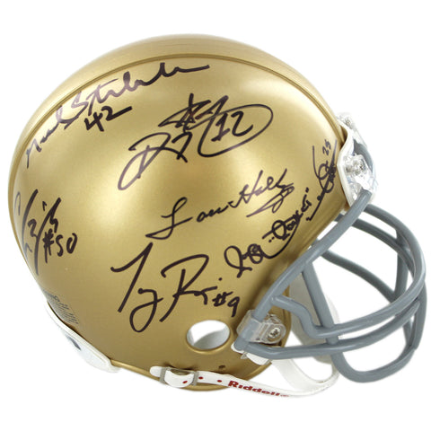 1988 Notre Dame Combo Multi Signed Mini Helmet (Rice Stonebreaker Zorich Watters Ismail Holtz) - Steiner Sports - Dropship Direct Wholesale