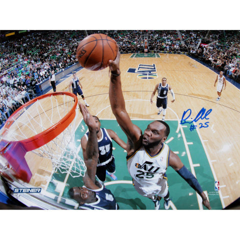 Al Jefferson Utah Jazz Dunk Against Oklahoma City Thunder Signed 16x20 Photo - Steiner Sports - Dropship Direct Wholesale