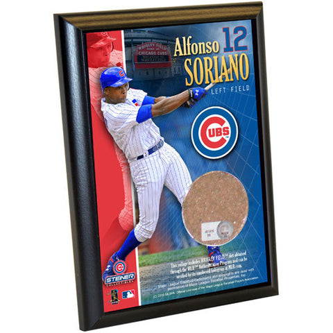 Alfonso Soriano Cubs 4x6 Dirt Plaque - Steiner Sports - Dropship Direct Wholesale