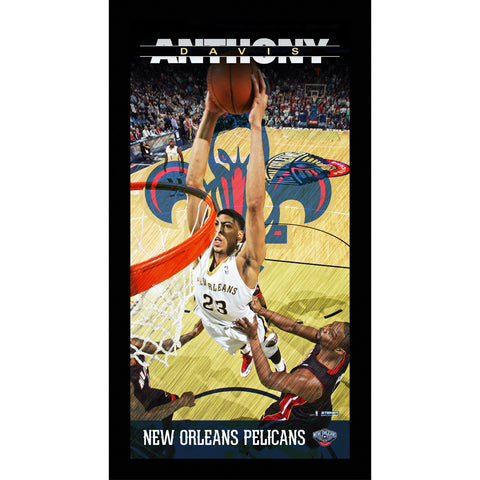 Anthony Davis New Orleans Pelicans Player Profile Wall Art 9.5x19 Framed Photo - Steiner Sports - Dropship Direct Wholesale