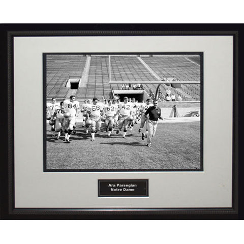 Ara Parseghian Notre Dame Running On Field Framed 16x20 Photo - Steiner Sports - Dropship Direct Wholesale