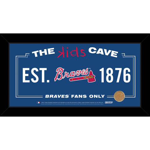 Atlanta Braves 6x12 Kids Cave Sign w Game Used Dirt from Turner Field - Steiner Sports - Dropship Direct Wholesale
