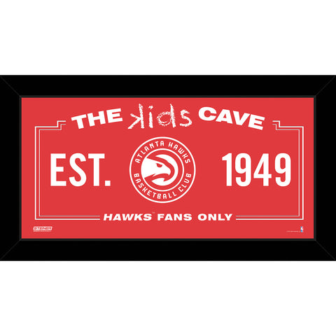 Atlanta Hawks 6x12 Kids Cave Sign - Steiner Sports - Dropship Direct Wholesale