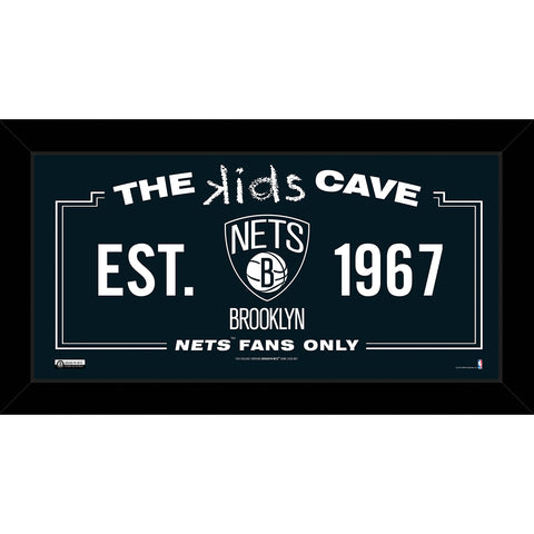 Brooklyn Nets 6x12 Kids Cave Sign - Steiner Sports - Dropship Direct Wholesale