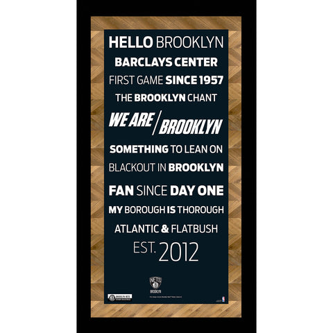 Brooklyn Nets Subway Sign 6x12 Framed Photo - Steiner Sports - Dropship Direct Wholesale