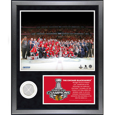 Chicago Blackhawks 2015 Stanley Cup Champion 11x14 Collage w Game Used Net Piece - Steiner Sports - Dropship Direct Wholesale