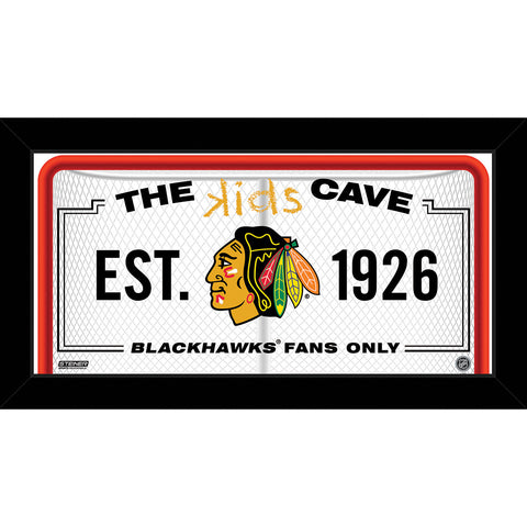 Chicago Blackhawks 6x12 Kids Cave Sign - Steiner Sports - Dropship Direct Wholesale