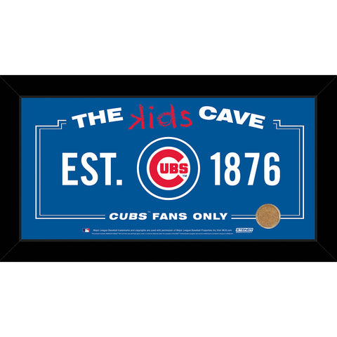 Chicago Cubs 6x12 Kids Cave Sign w Game Used Dirt from Wrigley Field - Steiner Sports - Dropship Direct Wholesale