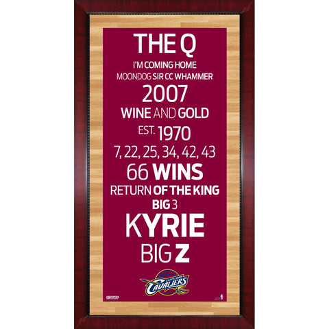 Cleveland Cavaliers Subway Sign Wall Art 16x32 Photo - Steiner Sports - Dropship Direct Wholesale