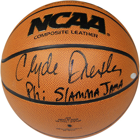 Clyde Drexler Signed NCAA Basketball W Phi Slamma Jamma Insc. - Steiner Sports - Dropship Direct Wholesale
