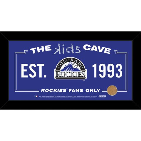 Colorado Rockies 6x12 Kids Cave Sign w Game Used Dirt from Coors Field - Steiner Sports - Dropship Direct Wholesale