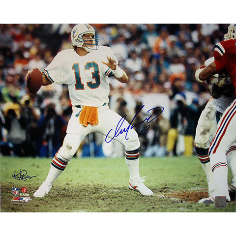 Dan Marino Miami Dolphins Home Jersey Dropping Back to Pass Horizontal 16x20 Photo (Signed by Ken Regan) - Steiner Sports - Dropship Direct Wholesale