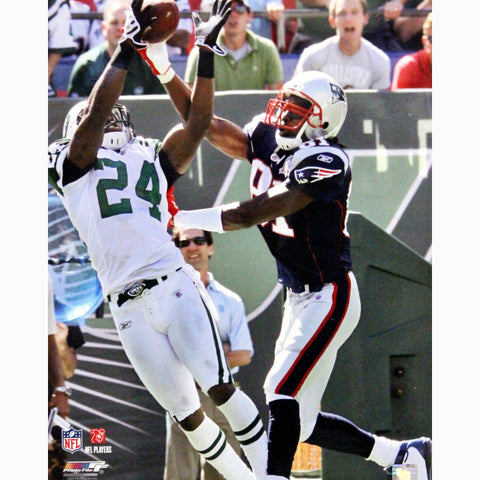 Darrelle Revis Interception vs Randy Moss of The New England Patriots Vertical 16x20 Photo - Steiner Sports - Dropship Direct Wholesale