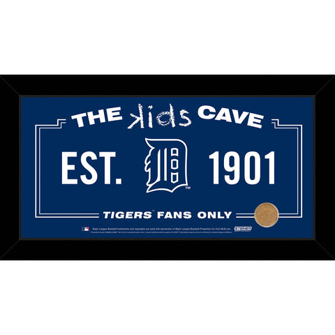 Detroit Tigers 6x12 Kids Cave Sign w Game Used Dirt from Comerica Park - Steiner Sports - Dropship Direct Wholesale