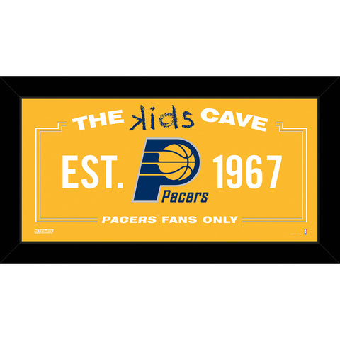 Indiana Pacers 6x12 Kids Cave Sign - Steiner Sports - Dropship Direct Wholesale