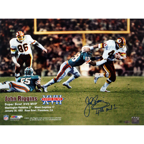 John Riggins Washinton Redskin Super Bowl XVII vs Miami Dolphins Honrizontal 16x20 w4th and 1 Insc. - Steiner Sports - Dropship Direct Wholesale