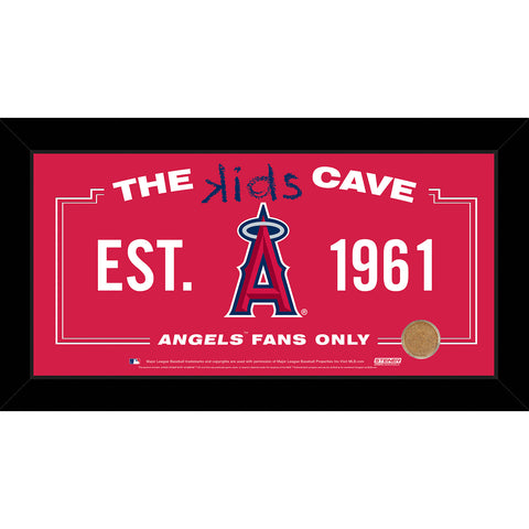 Los Angeles Angels 6x12 Kids Cave Sign w Game Used Dirt from Angel Stadium of Anaheim - Steiner Sports - Dropship Direct Wholesale