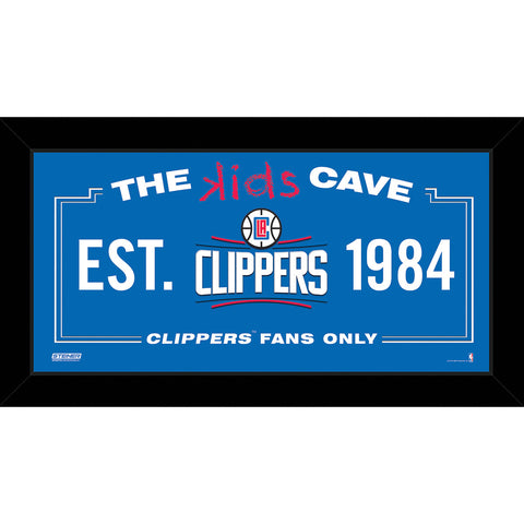 Los Angeles Clippers 6x12 Kids Cave Sign - Steiner Sports - Dropship Direct Wholesale