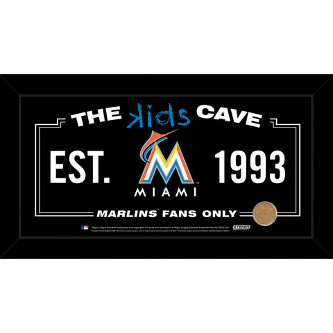 Miami Marlins 10x20 Kids Cave Sign w Game Used Dirt from Marlins Park - Steiner Sports - Dropship Direct Wholesale