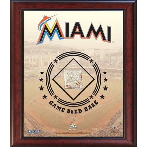 Miami Marlins Game Used Base 11x14 Stadium Collage - Steiner Sports - Dropship Direct Wholesale