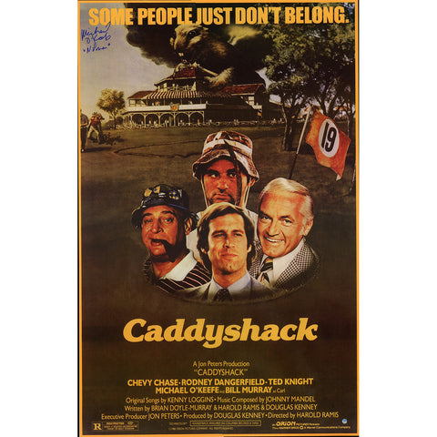 Michael OKeefe Signed Caddy Shack 23x36 Movie Poster w Noonan Insc - Steiner Sports - Dropship Direct Wholesale
