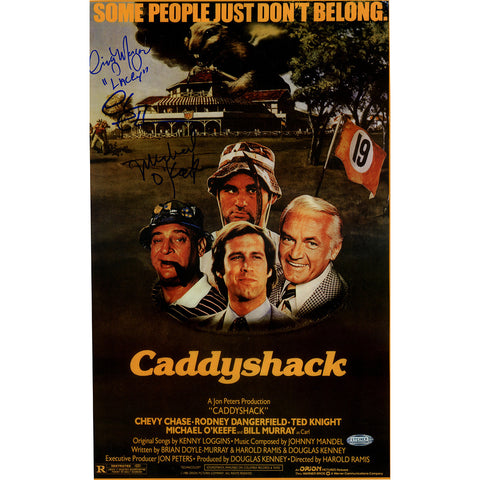 Michael OKeefeCindy MorganChevy Chase Triple Signed 10x16 CaddyShack Movie Poster Photo w LaceyInsc. - Steiner Sports - Dropship Direct Wholesale