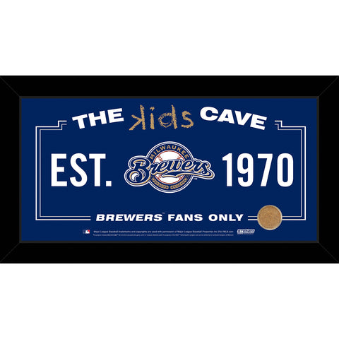 Milwaukee Brewers 10x20 Kids Cave Sign w Game Used Dirt from Miller Park - Steiner Sports - Dropship Direct Wholesale