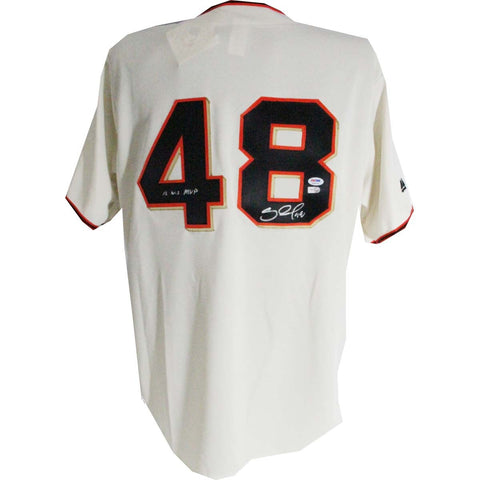 Pablo Sandoval Signed San Francisco Giants Jersey w WS MVP Insc.(PSADNA Auth) (MLB AUTH) - Steiner Sports - Dropship Direct Wholesale