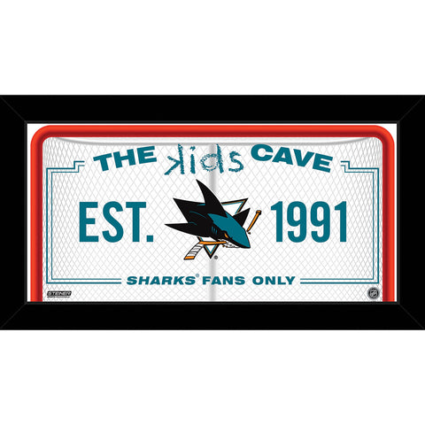 San Jose Sharks 6x12 Kids Cave Sign - Steiner Sports - Dropship Direct Wholesale