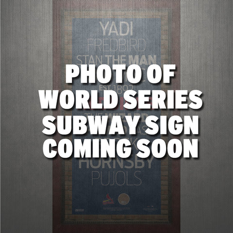 St Louis Cardinals 2013 World Series Champs 9.5x19 Framed Subway Sign - Steiner Sports - Dropship Direct Wholesale