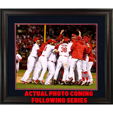 St Louis Cardinals 2013 World Series Champs Celebration 16x20 Framed Photo - Steiner Sports - Dropship Direct Wholesale