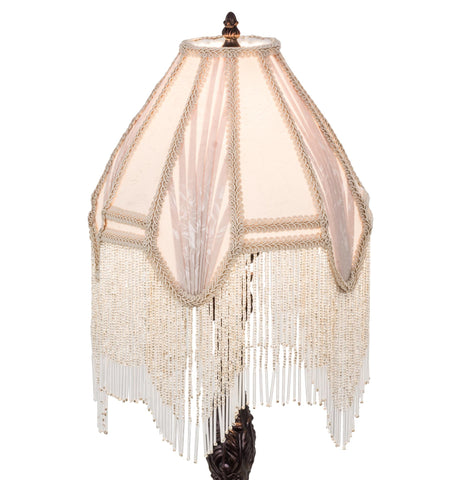 10 Inch W Fabric & Fringe Arbesque Shade - Meyda - Dropship Direct Wholesale