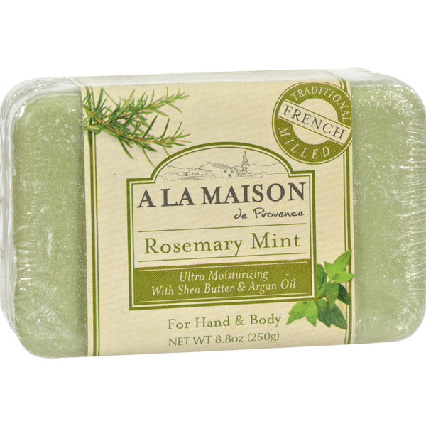 A La Maison Bar Soap Rosemary Mint - 8.8 oz - A La Maison - Dropship Direct Wholesale - 1