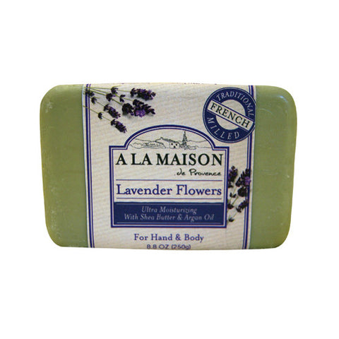 A La Maison Bar Soap Lavender Flowers - 8.8 oz - A La Maison - Dropship Direct Wholesale