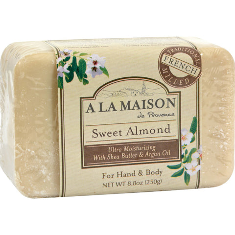 A La Maison Bar Soap Sweet Almond - 8.8 oz - A La Maison - Dropship Direct Wholesale - 1