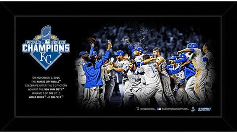 Kansas City Royals 2015 World Series Champions 10x20 Celebration Framed Collage
