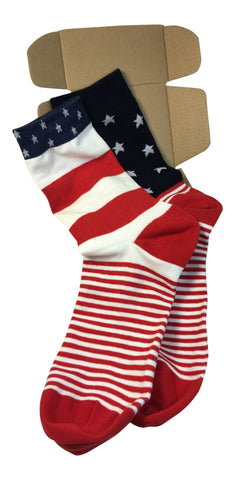 2 Pairs Men's Power Socks - New Americana Collection - Modern Motif - Dropship Direct Wholesale - 1