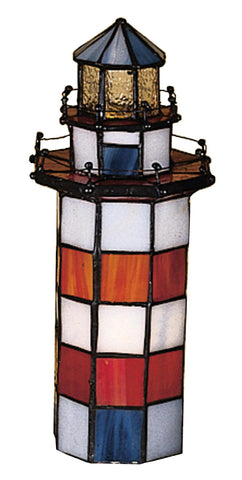 10 Inch H X 3 Inch W X 3 Inch D Hilton Head Lighthouse Accent Lamp - Meyda - Dropship Direct Wholesale