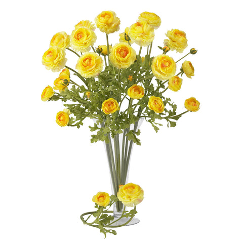 23in Ranunculus Stem (Set of 12) - Nearly Natural - Dropship Direct Wholesale