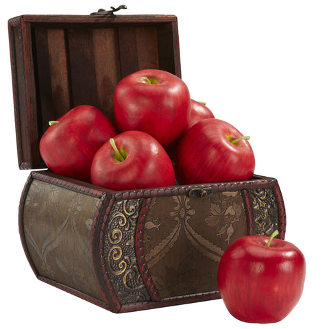 Faux Apple (Set of 6) - Nearly Natural - Dropship Direct Wholesale