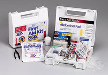 10 Person- 62 piece bulk kit- plastic case w/ dividers- 1 ea. - First Aid Only - Dropship Direct Wholesale