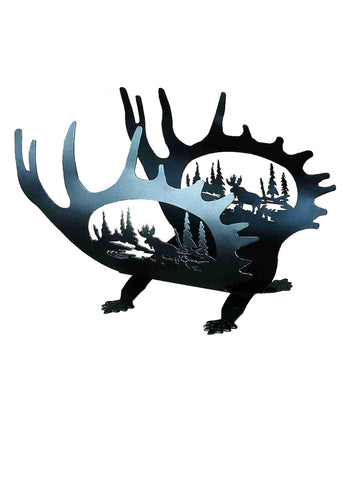 22 Inch L Moose Antler Log Holder - Meyda - Dropship Direct Wholesale