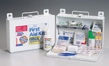 25 Person bulk kit w/ CPR one-way valve faceshield- metal case- 1 ea. - First Aid Only - Dropship Direct Wholesale