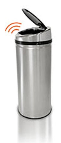 iTouchless 8 Gallon Round Stainless Steel Automatic Sensor Touchless Trash Can - iTouchless - Dropship Direct Wholesale
