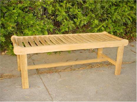 BH748B 48-Inch Cambridge Backless Bench - Anderson Teak - Dropship Direct Wholesale